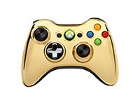 Microsoft Xbox 360 Special Edition Chrome Series Wireless Controller - Game pad - wireless - 2.4 GHz - gold