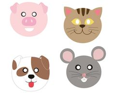 Printable Farm Animal Masks