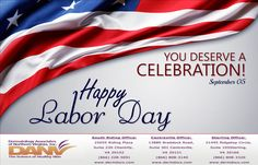 Best wishes for a wonderful holiday from the team at Dermatology Associates of Northern Virginia, Inc. #dermatologistcentreville #laborday