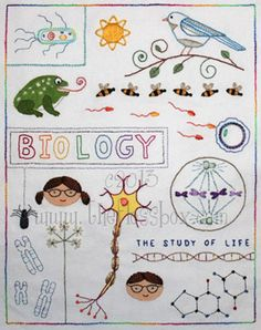 Embroidery for biologists.  This is honestly something I wouldn't have ever expected to see.  But somebody is going to be so happy to see this, that I couldn't resist pinning it.