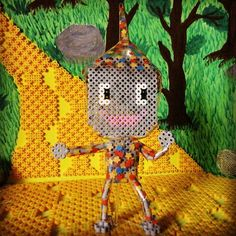 Tin Man doll - The Wizard of Oz hama beads by riguccimonamour