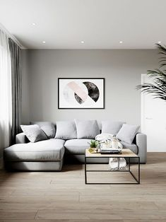 37 Best Minimalist Home Interior Design Ideas With Beautiful Colors Living Room Grey, Home Living Room, Living Room Decor, Room Interior, Interior Design Living Room, Living Room Designs, Minimalist Home Interior, Minimalist Living, Decoration
