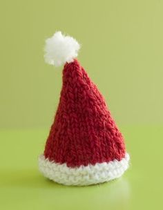 Knitting Pattern For Infant Santa Hat : tiny knitted baby doll pattern by Diane Wonderly Mini Knits - Animals, Toys...