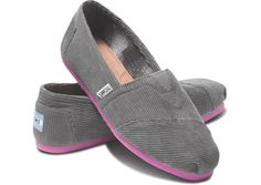 The website is having some issues, but that's because they are having a HUGE sale on TOMS and everyone is freakin' out. Take a look at this Gray Pop Corduroy Classics - Women by TOMS on today! Sock Shoes, Shoe Boots, Shoe Gallery, Glass Slipper, Children In Need, Sneaker Boots, New Wardrobe, Comfortable Shoes, Passion For Fashion
