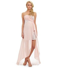 Hailey by Adrianna Papell Strapless Sequin Dress | Dillard's Mobile