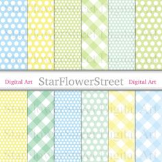 Blue and Green Plaid Scrapbook Paper