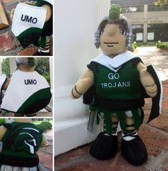 Troy the Mini Trojan Mascot got some new UMO gear!  :)