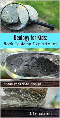 The Acid Test -- Super easy rock testing experiment that can be done at home or in the classroom! Kids will learn about minerals that are found in common backyard rocks & chemical reactions that help to identify these types of rocks - very cool! Rock Science, Summer Science, Stem Science, Easy Science, Science For Toddlers, Stem For Kids, Kids Learning Activities, Stem Activities, Fun Learning