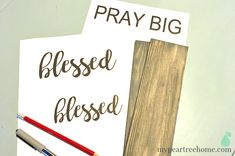 sign DIY, blessed sign, faith sign, handmade sign signs Cheater Method: How to Make a DIY Sign Diy Wood Signs, Wall Signs, Rustic Signs, Rustic Wood, Lettering Tutorial, Hand Lettering, Chalk Typography, Blessed Sign, How To Make Signs