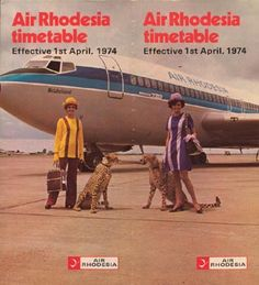 Air Rhodesia timetable April 1, 1974