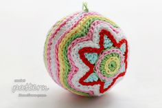 This is a crochet PDF pattern for Colorful Christmas Star Ball. The pattern is very detailed and is written in standard American terms. The Christmas decorations that you can create with this pattern will measure about 3 inches cm) in diameter. Christmas Tree Pattern, Crochet Christmas Ornaments, Holiday Crochet, Colorful Christmas Tree, Christmas Star, Christmas Baubles, Christmas Decorations, Crochet Slipper Pattern, Crochet Slippers