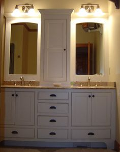 Double Vanity with lots of storage - Rustic - Bathroom - south east - by Zarse Custom Cabinet Company
