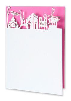 Paris Skyline Laser Cut Card