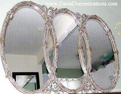Triple Wall Mirror Triple Oval Overlapping Mirror