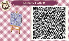 ACNL/ACHHD QR CODE-Blue and Gray Stone Path, Floor