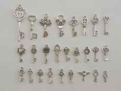 The Ultimate Key Charms Collection  26 different by nicoledebruin