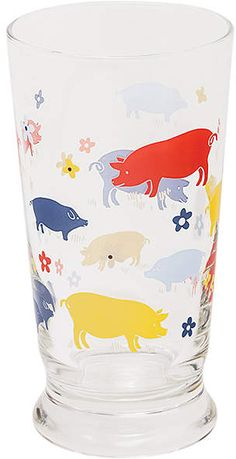 #ad Howdy #Pigs Juice Glass Animals Of The World, Animals And Pets, Cute Animals, This Little Piggy, Little Pigs, Pig Decorations, Pig Kitchen, Tout Rose, Pig Crafts