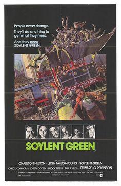 """MP638. """"Soylent Green"""" Movie Poster by John Solie (Richard Fleischer 1973) / #Movieposter"""