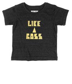 Like a Boss Gold // Dark Grey Short Sleeve from Tiny Bandits