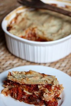 lasagna with cashew