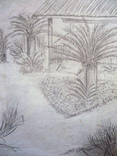 Palm garden sketch