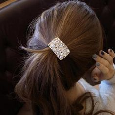 Rhinestone Hair Tie Wedding Men, Wedding Rings, Hair Ties, Bobby Pins, Silver Jewelry, Hair Accessories, Band, Beauty, Fashion