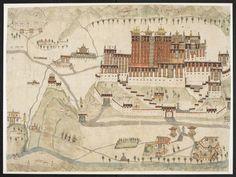 L0079646 Potala Palace, Tibet, Watercolour c. 1860