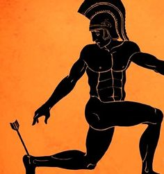 Friday Q&A: Achilles Tendonitis and Tight Hamstrings Nina Zolotow The Achilles Heel of Achilles was Literally His Achilles Heel . Greece Mythology, Greek And Roman Mythology, Greek Gods, Ancient Greek Art, Ancient Greece, Greece Art, Tight Hamstrings, Greek Warrior, Legends And Myths