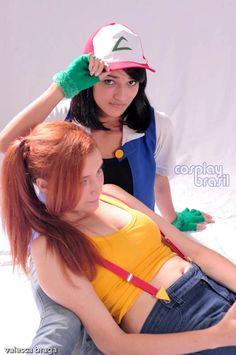 Ash and Misty Pokemon Cosplay by CarlaGolbat Ash And Misty, Pokemon Cosplay, Yoko, Dress Up, Kawaii, Deviantart, Google Search, Animals, Fashion