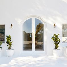 By Three Birds Renovations x Peppa Hart. More at House Inspo, Arch Doorway, Home, House Exterior, House Inspiration, Mediterranean Homes, Future House, House, House Goals
