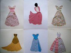 paper iris folding dresses