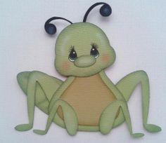 GRASS HOPPER INSECT ANIMAL KIDS BUGS PAPER PIECING BY MY TEAR BEARS BY KIRA