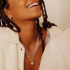 Silver Wedding Jewelry, Bling Wedding, Chakra Necklace, Bar Necklace, Daisy London, Wedding Jewellery Inspiration, Africa Necklace, Daisy Necklace, Meaningful Jewelry
