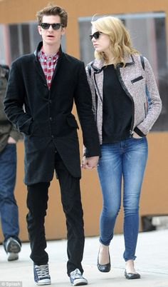 Andrew Garfield + Emma Stone. Seriously, so cute.