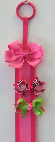 "Deluxe Hair Clip & Headband Holder (3"" Bow Embellishment, Hot Pink) Funny Girl Designs,http://www.amazon.com/dp/B003IGPEZO/ref=cm_sw_r_pi_dp_yBOErb9B482A4C87"