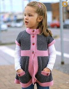 Girl-child-vest-models- - Knitting New Baby Knitting Patterns, Zapatos Nike Air, Baby Girl Names, Boy Names, Baby Ruth, Cardigan Design, Kylie Jenner, Jumper Outfit, Jamel