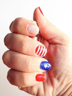 Simply Girly: 4TH July * Wonder Women Nails