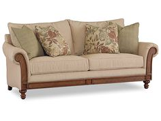 Hooker Furniture Living Room Windward Dart Honey Sofa 1125-52013 - Patrick Furniture - Cape Girardeau, MO