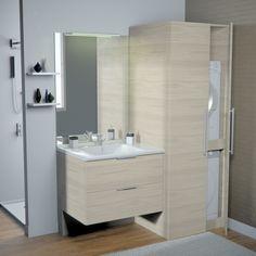 Meuble buanderie | Chenevert - nos produits Bathroom Lighting, Vanity, Mirror, Furniture, Images, Home Decor, New York, France, Simple