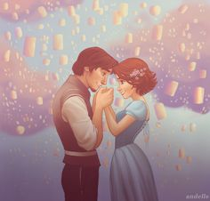 Happily ever after, Rapunzel and Flynn Ryder, Tangled