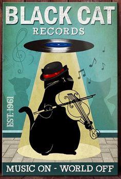 Black Cat Art, Black Cats, Cow Pictures, Cat Comics, Cat Posters, Learn Art, Cat Cards, Vintage Cat, Cat Drawing