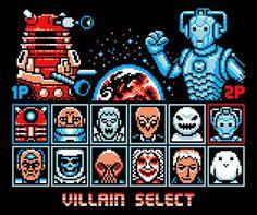 Doctor Who Villains Street Fighter T-Shirt