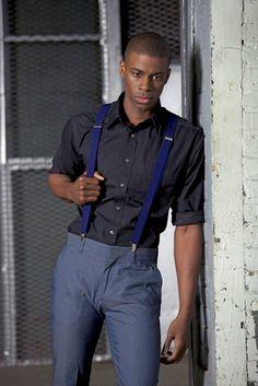 Oheni Morris Blue Suspenders