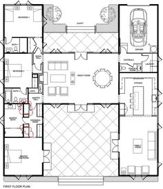 European Style House Plan - 4 Beds 2.00 Baths 3904 Sq/Ft Plan #520 ...