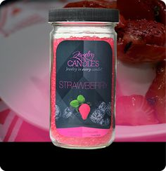 candles, beads and tarts Home Decor Christmas Gifts, Aroma Beads, Jewelry Candles, Smell Good, Coffee Bottle, Mason Jars, Strawberry, Fruit, Tarts