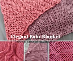 #Crochet baby blanket free pattern from Meladora's Creations