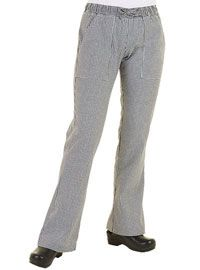 Women's Small Check Chef Pants from Best Buy Uniforms. To see more women's chef uniforms click here http://www.bestbuyuniforms.com/chef-chef-uniforms-for-women/681-womens-small-check-chef-pants.html