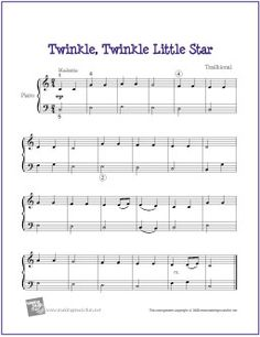 Twinkle, Twinkle Little Star | Free Nursery Rhyme Sheet Music for Easy Piano - http://makingmusicfun.net/htm/f_printit_free_printable_sheet_music/twinkle-twinkle-little-star-piano-solo.htm (Scheduled via TrafficWonker.com)