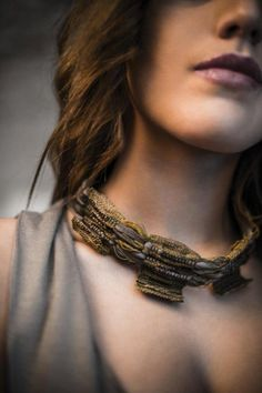 "Necklace | Ornella Marotta, Atelier Son Form. ""Adolescent"" from the Femininity Collection. Textile"