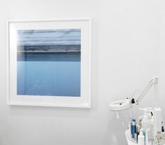 Melissa Mercier, Irrational Fear Of Confined Spaces series. #art #photography #photograph #image #display #touchofjoy #salon #spa #boutique #center #blue #water #lake #calm #wood #abstract #minimalist #phobia #fear #product